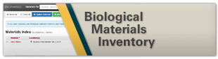Biological Material Inventory