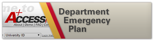 Department Emergency Plan