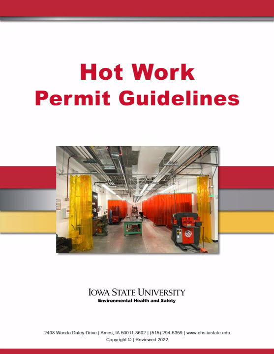 Hot work permit program environmental health and safety pronofoot35fo Gallery