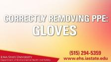 Correctly Removing PPE - Gloves