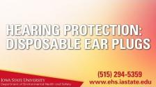 Hearing Protection: Disposable Ear Plugs