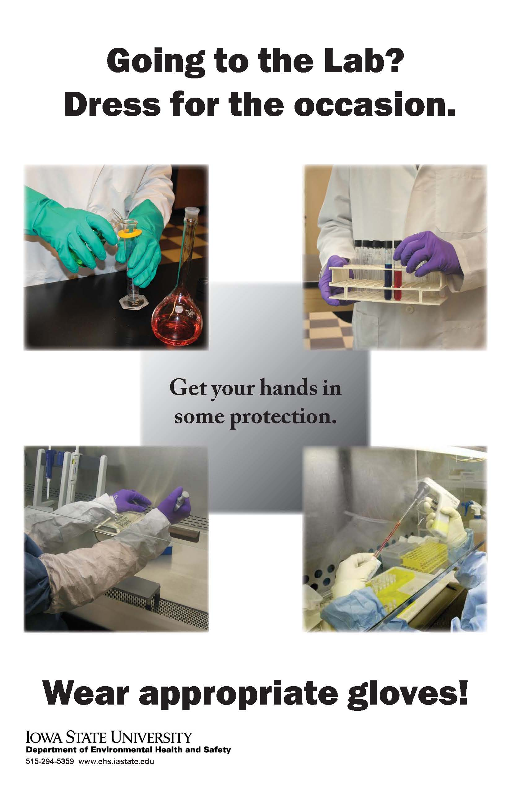 laboratory ppe environmental health and safety iowa