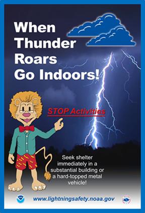 When thunder roars go indoors