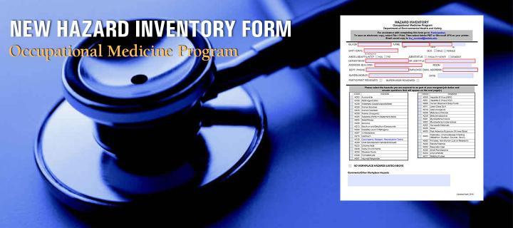 New Hazard Inventory form