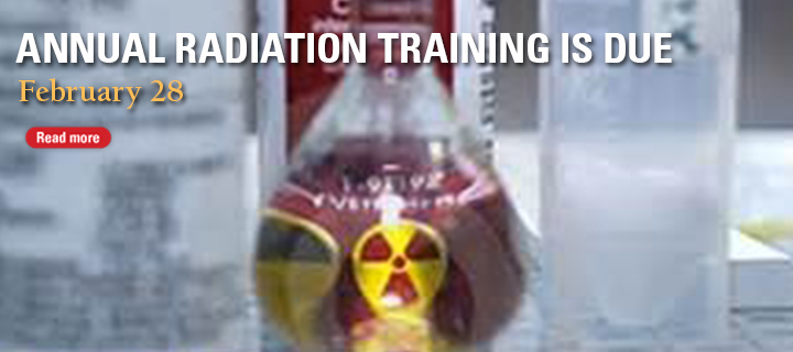 Annual Radiation Safety Training Due